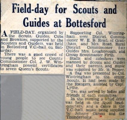 Jay Howitt's Scouts scrapbook cuttings - 33
