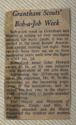 Jay Howitt's Scouts scrapbook cuttings - 44