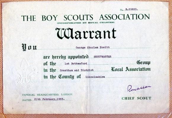 Jay Howitt's Scouts scrapbook cuttings - 56