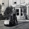 Bottesford Rectory, mowing the south lawn