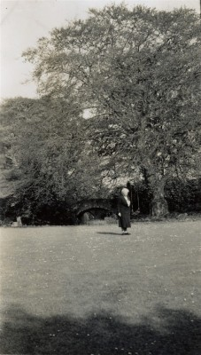 Mrs Mabel Armstrong in the Rectory garden