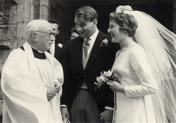 Canon Blackmore conducting a marriage in 1964