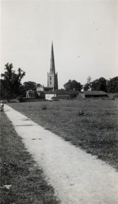 Bottesford church and Church Farm seen from the northeast