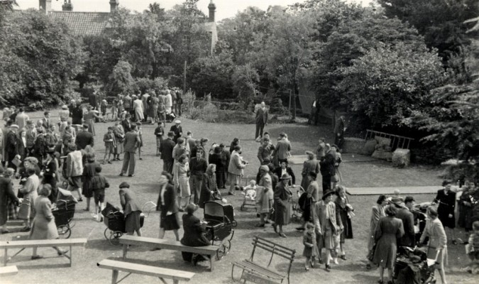 A village fete in the Rectory Garden