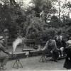 A village fete in the Rectory Garden, steam train rides