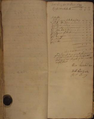 Muston Overseers of the Poor Account 1677
