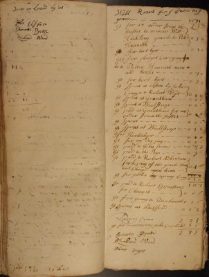 Muston Overseers of the Poor Account 1691