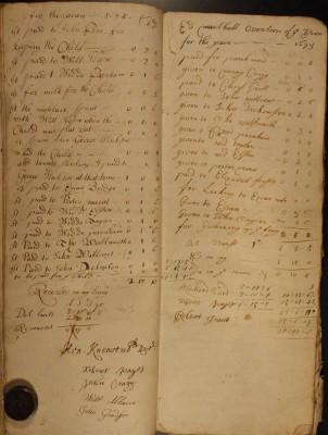 Muston Overseers of the Poor Account 1694-95
