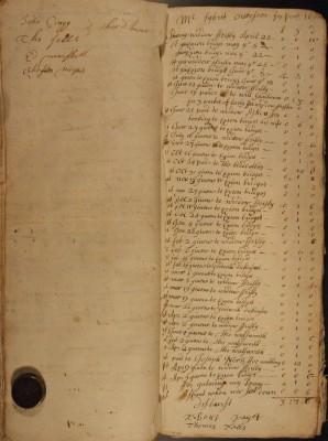 Muston Overseers of the Poor Account 1698