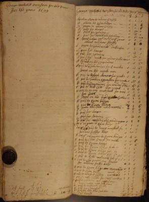 Muston Overseers of the Poor Account 1699