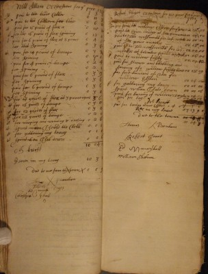Muston Overseers of the Poor Account 1700-01