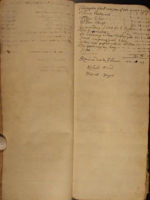 Muston Overseers of the Poor Account 1703