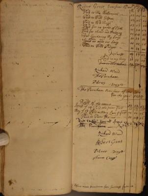 Muston Overseers of the Poor Account 1704