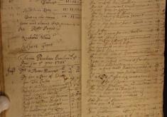 Muston Overseers of the Poor Account 1705-07