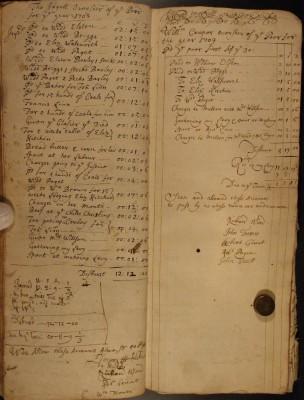 Muston Overseers of the Poor Account 1708-09