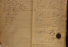 Muston Overseers of the Poor Account 1719 completion