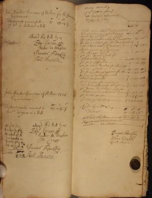 Muston Overseers of the Poor Account 1726