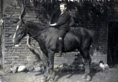 Tom Samuel on a pony