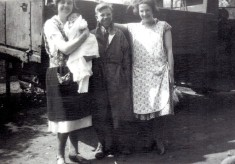 Eric Turner between Dot Samuel and Mary Samuel