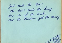 Dedication from C.E.Greasely, Fulbeck