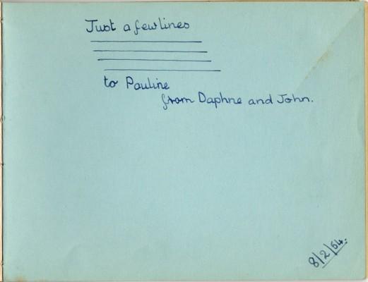Dedication from Daphne and John