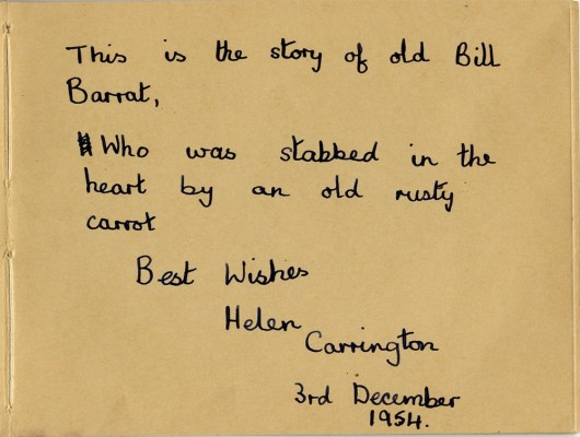 Dedication from Helen Carrington