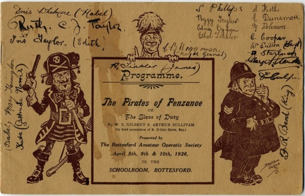 Bottesford Amateur Operatic Society: Iolanthe, 1925, Pirates of Penzance, 1926