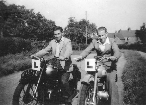 Peter Robinson and Gerald Coy, Muston, late 1940/early 1950s.