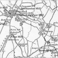 1824 Map showing sites of water and windmills