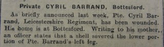 Casualty Report 9/9/1916