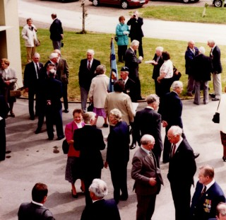 Airforce veterans at the 50th Anniversary celebration of VE Day, Bottesford, 1995.