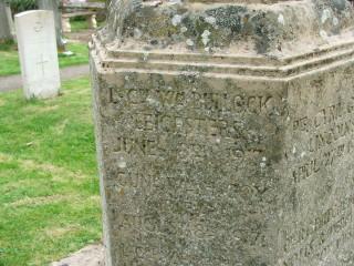 J W Bullock remembered on the Muston memorial