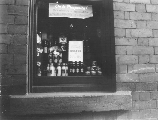 Barbara Gibbons' (nee Bray's) shop window in Clifton, Nottingham.