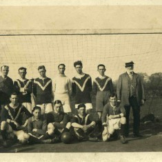 Football Team member in the 1920s - 1st on the left front row