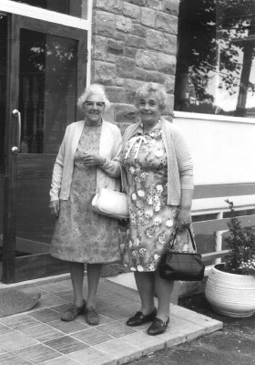 Winnie Coy and Mrs Pacey, on holiday 1978.