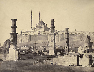 Cairo Citadel in the background where John William Stewart was based in Egypt