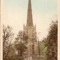 An old post card of Bottesford parish church