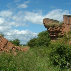 Remains of the eastern side.