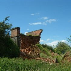 Remains of the western part of the bridge.