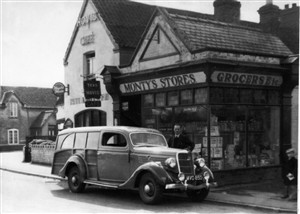 1950 view of Rutland Café and Monty's Stores (what is now the mower repair shop)