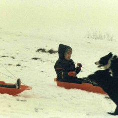 Sledging in Muston in the early 1980's