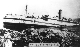 He shipped home in May 1917, luckily not on the following journey when the Letitia (built in 1912) ran aground on the Canadian coast