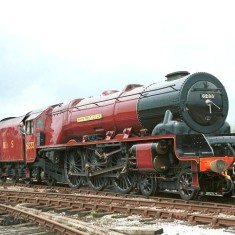 Preserved 6233 Duchess of Sutherland running in 2001