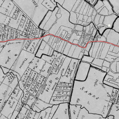 1771 enclosure map east west route marked in red