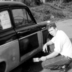 John Wilkinson with his first car at The Green