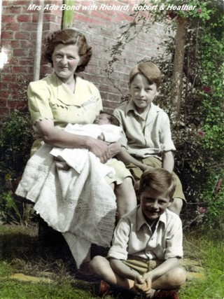 Mrs Ada Bond and her sons Richard and Robert.