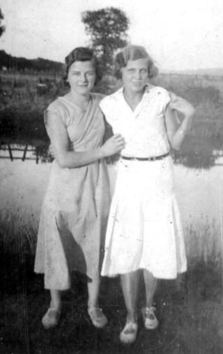 Ada Bond on the left