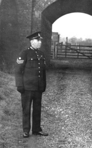 Sergeant Bradshaw, on duty near Great Bowden, ca.1946