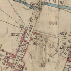 Detail from a 19th Century map showing Albert Street as Back Street