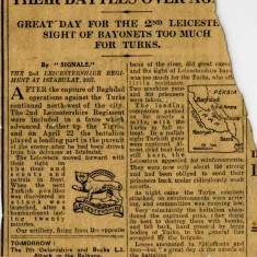 A clipping from a daily newspaper in 1917 found in Bill Sutton's memorabilia from WW1